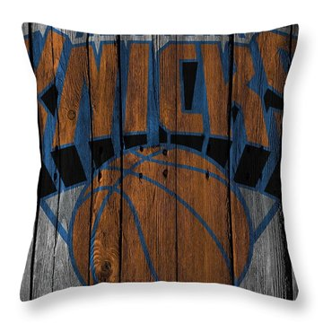 New York Knicks Wood Fence Throw Pillow