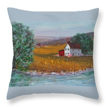New York Lilacs Throw Pillow