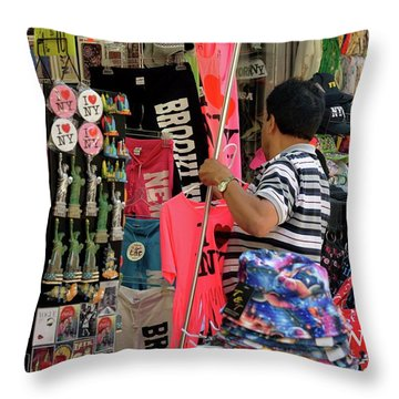 Throw Pillow featuring the photograph New York, New York 14 by Ron Cline