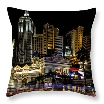 New York New York Las Vegas Throw Pillow