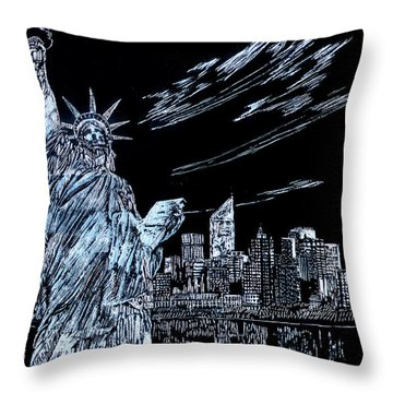 New York New York New York  Throw Pillow by Saad Hasnain