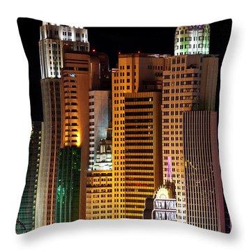 New York New York Throw Pillow by Rae Tucker