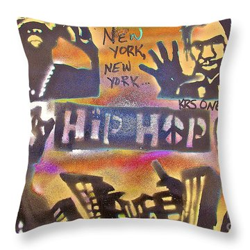 New York New York Throw Pillow by Tony B Conscious