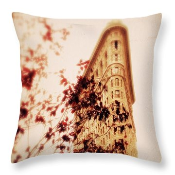 New York Nostalgia Throw Pillow