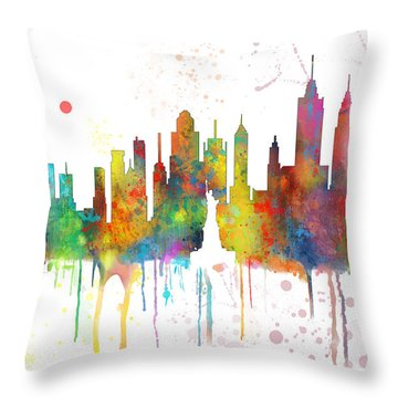 New York Ny Skyline Throw Pillow