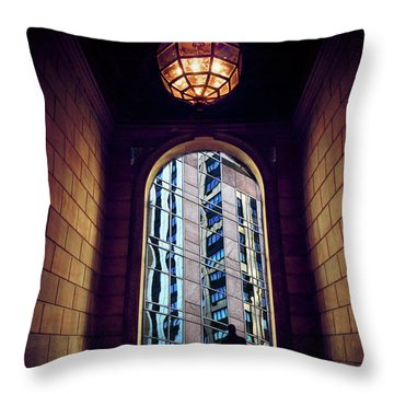 Throw Pillow featuring the photograph New York Perspective by Jessica Jenney