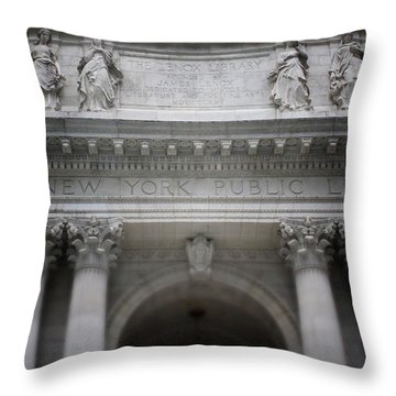 New York Public Library- Art By Linda Woods Throw Pillow