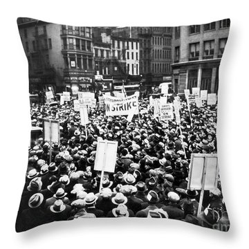 New York: Seamens Strike Throw Pillow by Granger