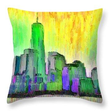 New York Skyline 5 - Pa Throw Pillow