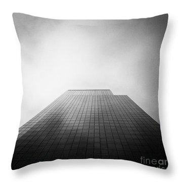 New York Skyscraper Throw Pillow by John Farnan