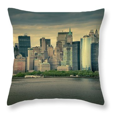 Throw Pillow featuring the photograph New York State Of Mind by Ryan Smith