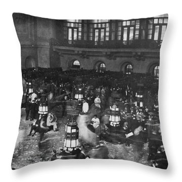 New York Stock Exchange Throw Pillow by Granger