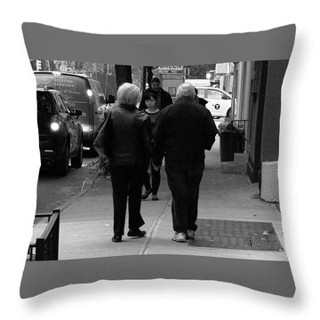 Throw Pillow featuring the photograph New York Street Photography 75 by Frank Romeo