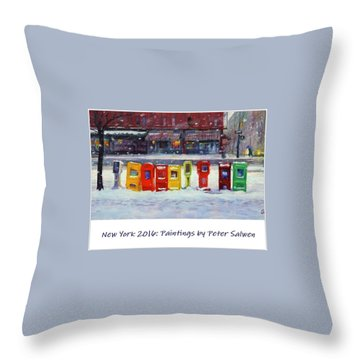 New York Streetscapes 2016 Throw Pillow