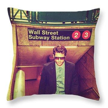 New York Subway Station Throw Pillow