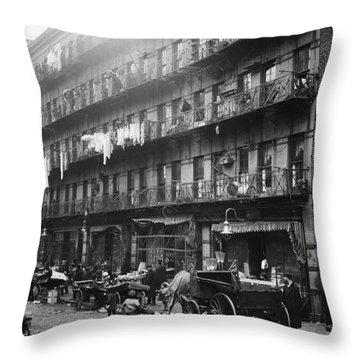New York: Tenements, 1912 Throw Pillow by Granger