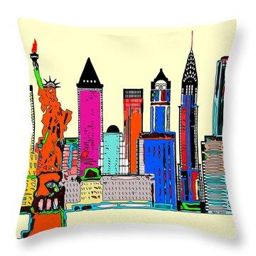 New York - The Big City Throw Pillow