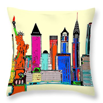 New York - The Big City Throw Pillow