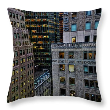 Throw Pillow featuring the photograph New York Windows by Joan Reese