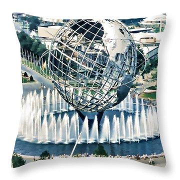 New York World's Fair Throw Pillow