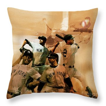 New York Yankees  Throw Pillow by Gull G