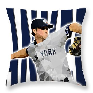 Throw Pillow featuring the digital art New York Yankees by Stephen Younts