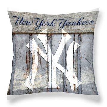 New York Yankees Rustic Throw Pillow
