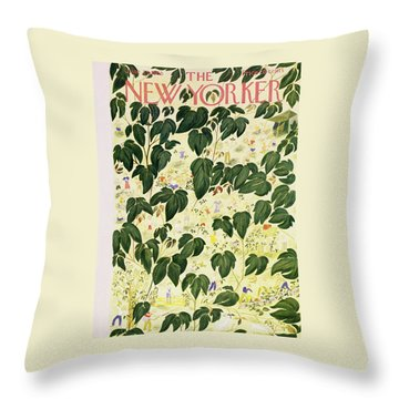 New Yorker 25 1955 Throw Pillow