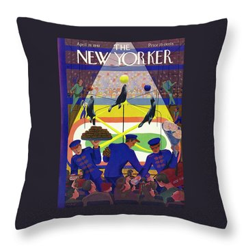 New Yorker April 19 1941 Throw Pillow