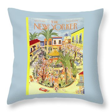 New Yorker April 25 1953 Throw Pillow