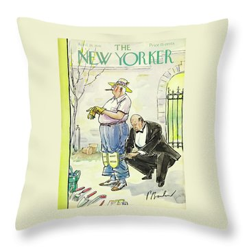 New Yorker April 26 1941 Throw Pillow