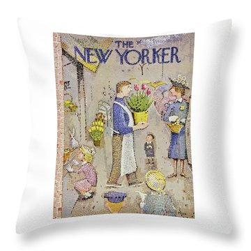 New Yorker April 5 1958 Throw Pillow