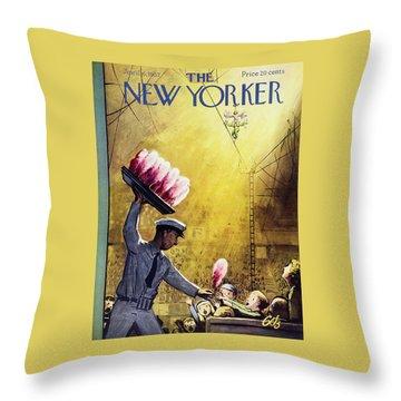 New Yorker April 6 1957 Throw Pillow
