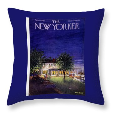New Yorker August 13 1955 Throw Pillow