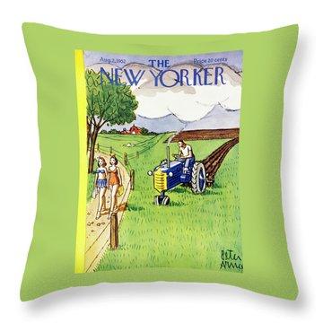 New Yorker August 2 1952 Throw Pillow
