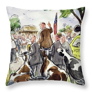 New Yorker August 23 1952 Throw Pillow