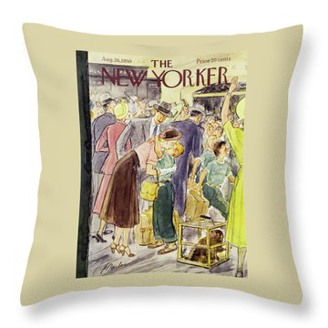 New Yorker August 26 1950 Throw Pillow