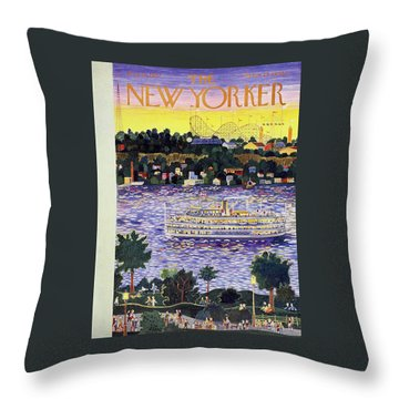 New Yorker August 31 1957 Throw Pillow