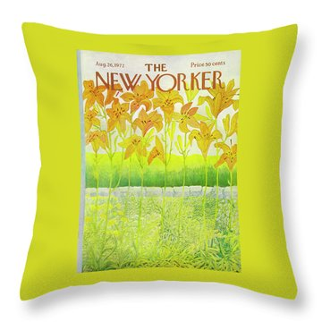 New Yorker Cover August 26 1972  Throw Pillow