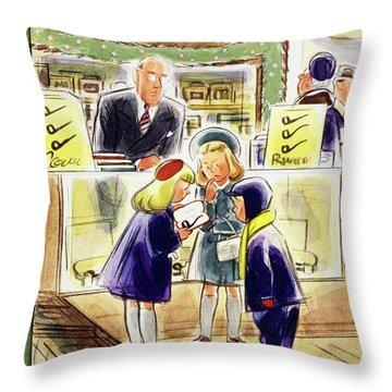 New Yorker December 13 1952 Throw Pillow
