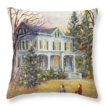 New Yorker December 14 1957 Throw Pillow
