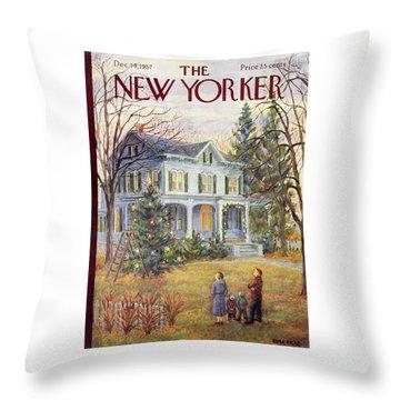 New Yorker December 14 1957 Throw Pillow