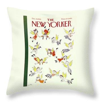 New Yorker December 16 1950 Throw Pillow