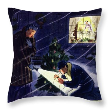 New Yorker December 18 1954 Throw Pillow