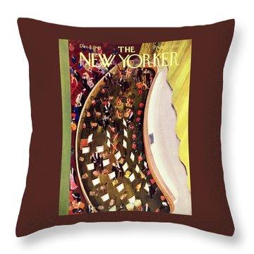 New Yorker December 3 1949 Throw Pillow