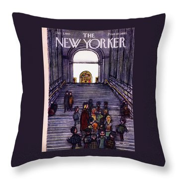 New Yorker December 3 1955 Throw Pillow