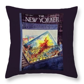 New Yorker February 03 1962 Throw Pillow