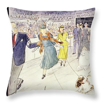 New Yorker February 12 1955 Throw Pillow
