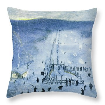 New Yorker February 18 1956 Throw Pillow