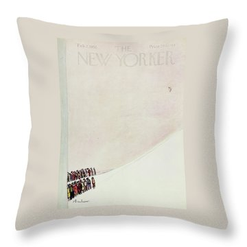 New Yorker February 2 1952 Throw Pillow